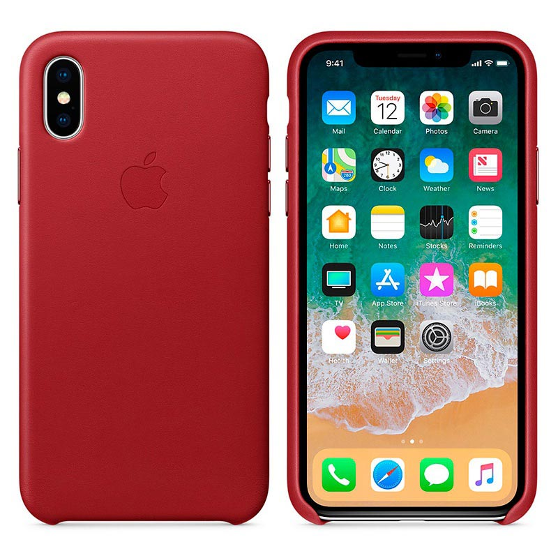 Custodia Apple In Pelle Per iPhone X - Fucsia - I.T. Store Srl