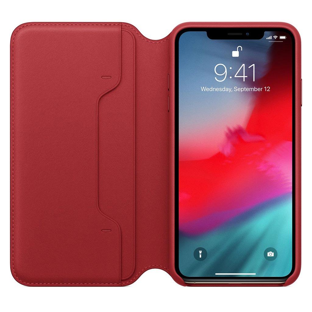 Apple MRWX2ZM/A Apple Leather Folio iPhone XS Red Custodia folio