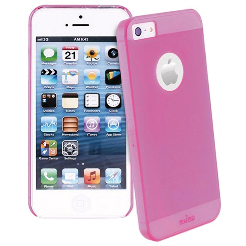 Custodia Rigida Puro Rainbow per iPhone 5 / 5S / SE - Rosa