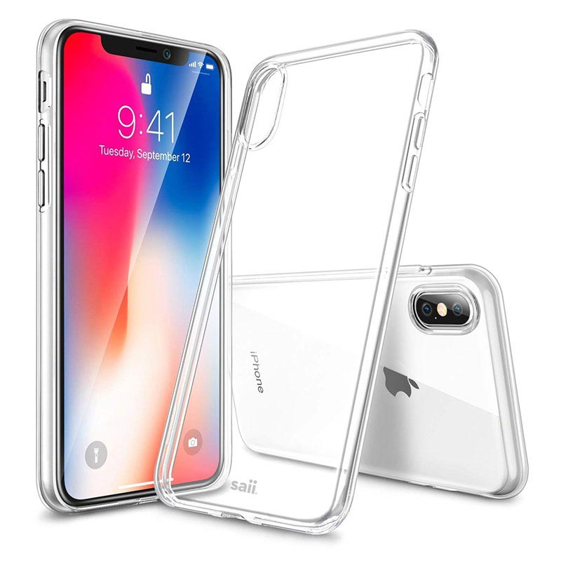 Cover TPU Antiscivolo iPhone XS Saii Premium
