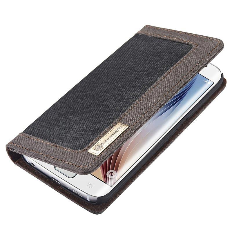 CaseMe Denim Portafoglio Custodia di Telefono con Fessura di Carta