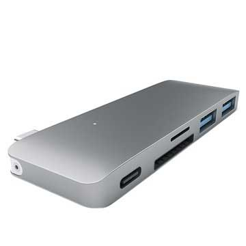 Hub USB Satechi Type-C Pass Through - Grigio spaziale