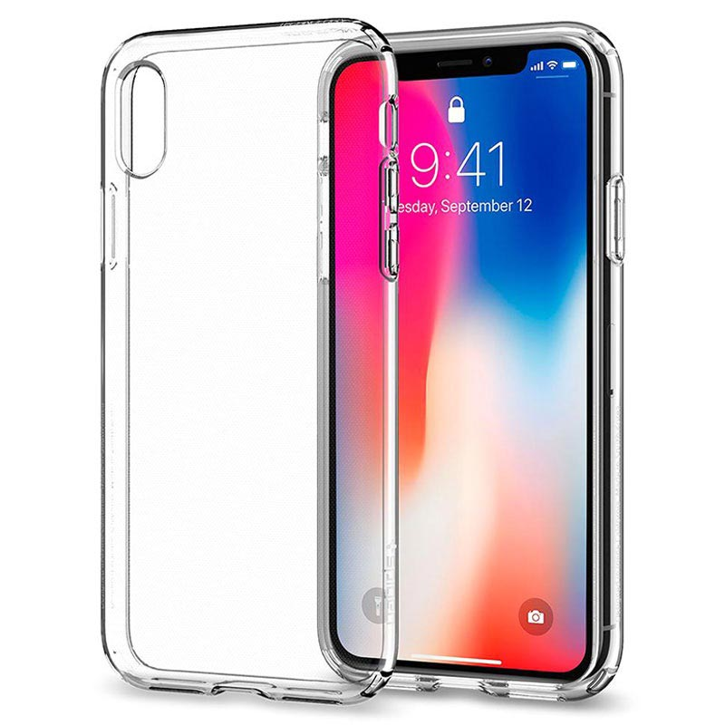 Cover Spigen Liquid Crystal per iPhone X / iPhone XS - Trasparente