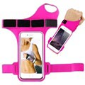 "Universal Water Resistant Armband with Thumb Hole - 6"" - Hot Pink"
