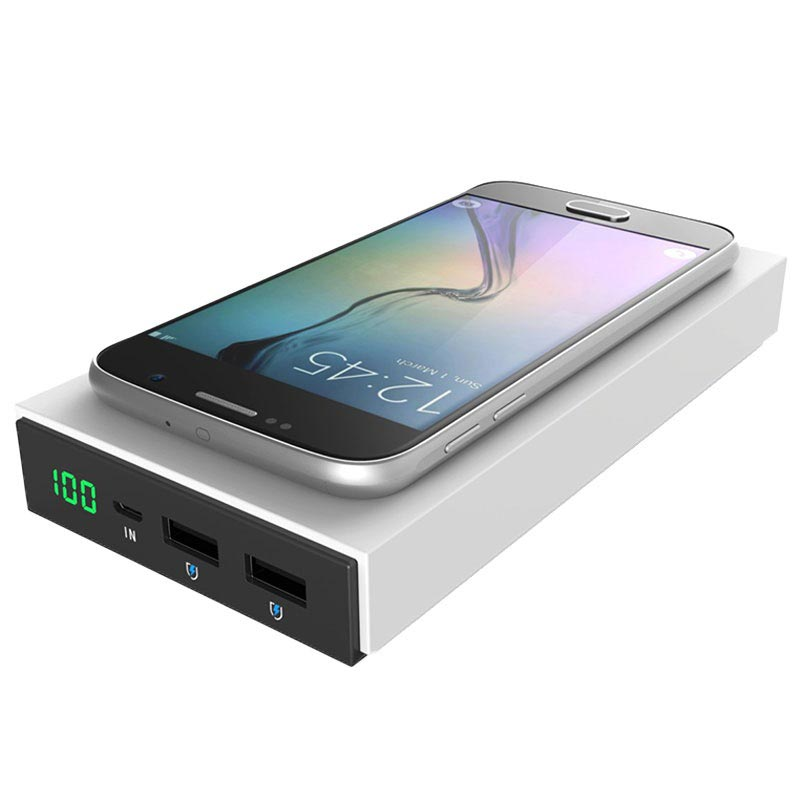 Caricatore Qi Wireless e Power Bank Vinsic 2 in 1 - 12000 aAh